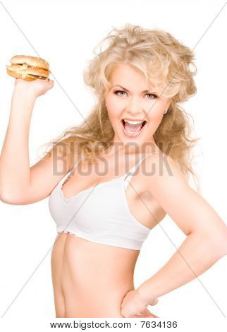 Woman With Burger