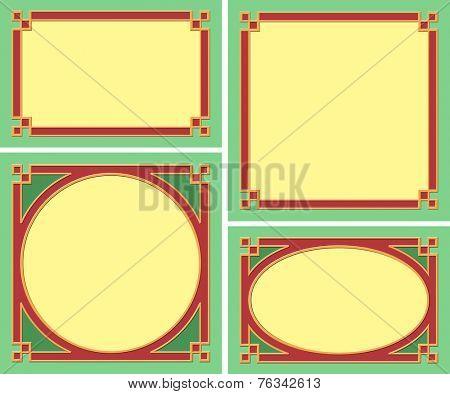 A Set of Decorative Borders, Frames - Vector EPS 8