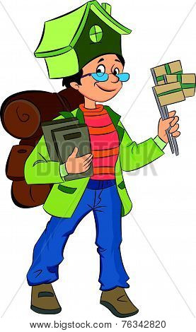 Backpacking Around The World, Illustration