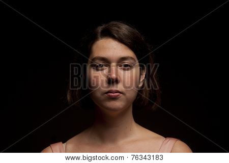 Extensive Study Of Portrait Studio Lighting, Natural Woman Face