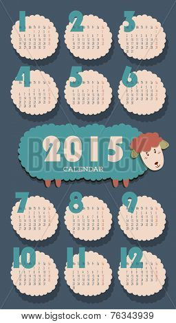 2015 Calendar with Sheep