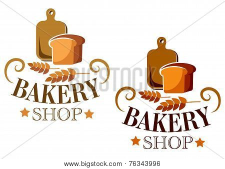 Bakery Shop sign or label