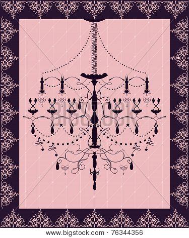 Luxury Chandelier Card Background