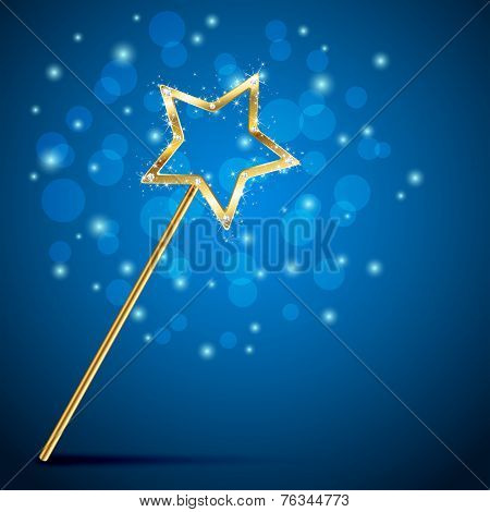 Magic Wand On Blurry Background
