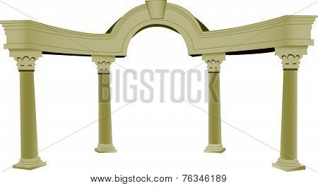 3D Greek Arch And Column