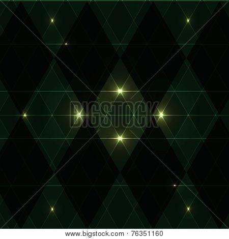 Green Wink Vintage Pattern Background