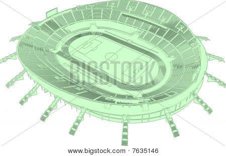 Football Soccer Stadium Vector 01