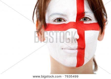 English Flag Portrait
