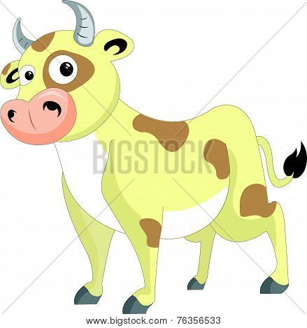 Cute Cow, Illustration