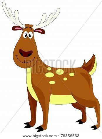 Cute Brown Deer, Illustration