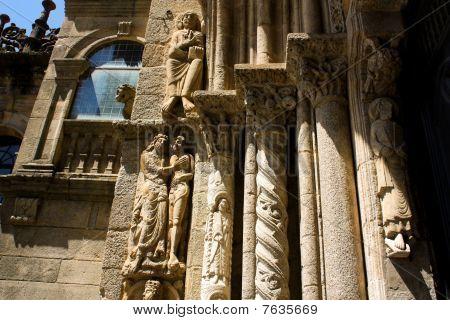monumentale Detail der Kathedrale Santiago de compostela