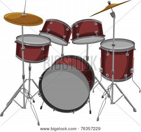Vector Of Drum Set.