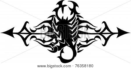 Scorpion Tattoo Design, Vintage Engraving.