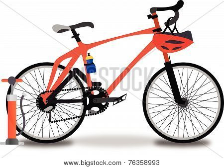 Racing Bicycle, Illustration