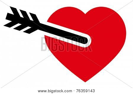 Red heart with arrow icon