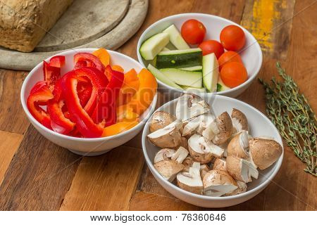Vegetable Ingredients For Cheese Fondue
