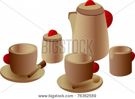 Wooden Play Tea Set