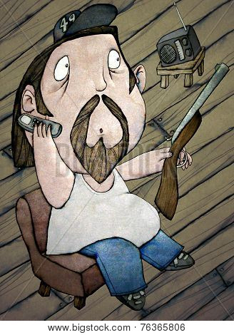 Hillbilly, Color Illustration