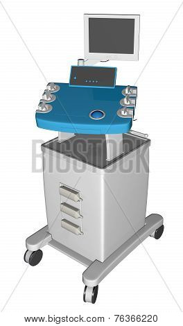 Egc Or Electrocardiogram Device Or Cardiograph, 3D Illustration