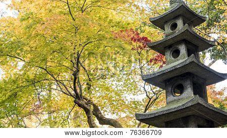 Kotoji Lantern In Kenrokuen Garden