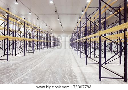 Large warehouse, toned