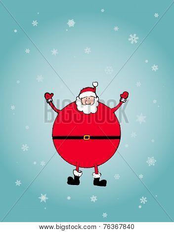 Christmas Concept: Santa Arms Wide Open Happly
