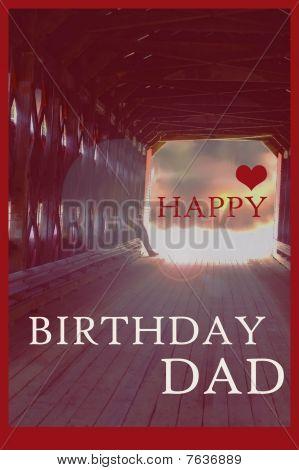Happy Birthday Dad Photo Illustration