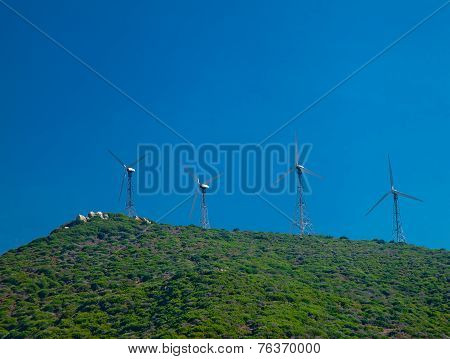 Four Windmills On The Hill