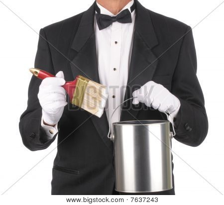 Butler With Paint Can And Brush