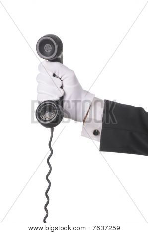 Butler With Telephone Receiver