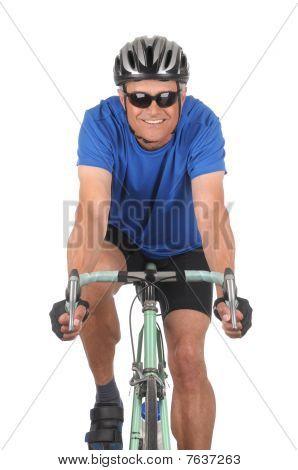 Cyclist On Bike Closeup