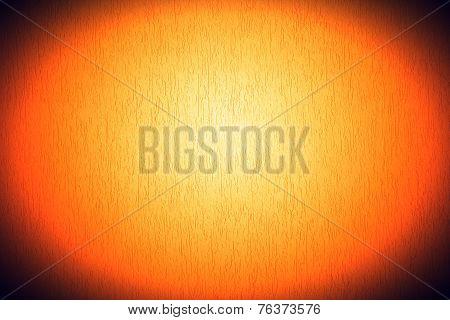 Orange White Mortar Wall Textured Background.