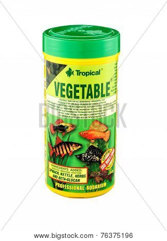 Plastic Can Of Tropical Vegetable Flakes