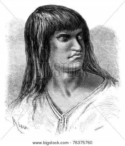 Chacaya Indian, Vintage Engraving.