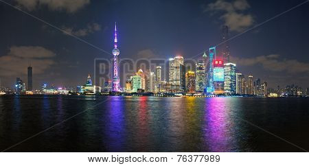 China Shanghai Pudong District Skyline