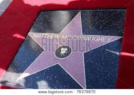 LOS ANGELES - NOV 17:  Matthew McConaughey Star at the Matthew McConaughey Hollywood Walk of Fame Star Ceremony at the Hollywood & Highland on November 17, 2014 in Los Angeles, CA