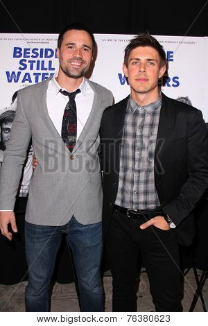 LOS ANGELES - NOV 16:  Brett Dalton, Chris Lowell at the