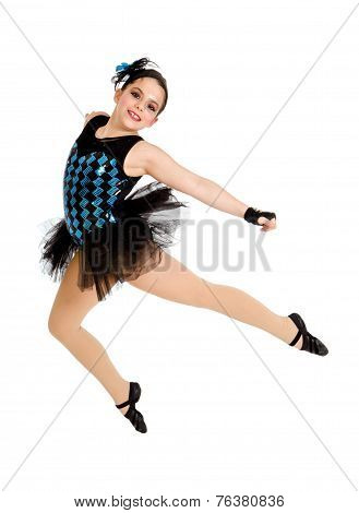 Flying Modern Ballet Dancer Child