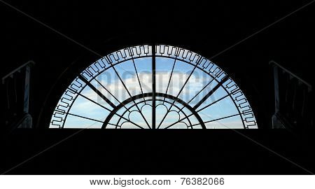 Semicircular Window Backlit