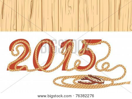 Cowboy Lasso 2015 Year.vector Illustration