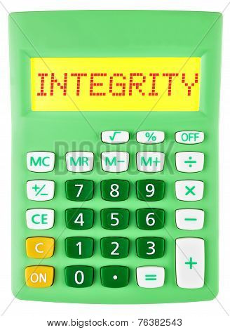 Calculator With Integrity On Display