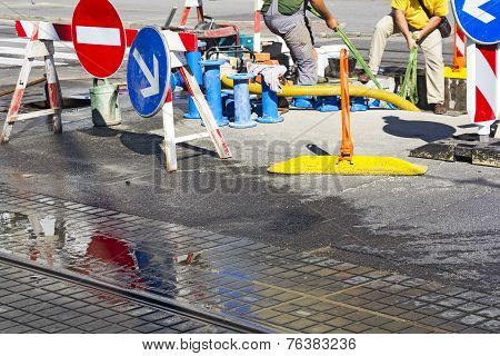 Repair Of Water Pipes