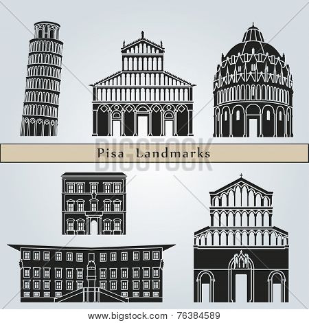 Pisa Landmarks And Monuments