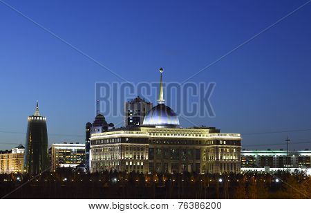 President's Palace. Astana. Kazakhstan.