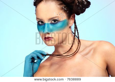 Girl's Fantasy Blue Body-art