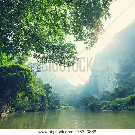 Serenity river in Vietnam