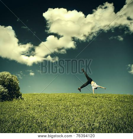 Somersault In The Field