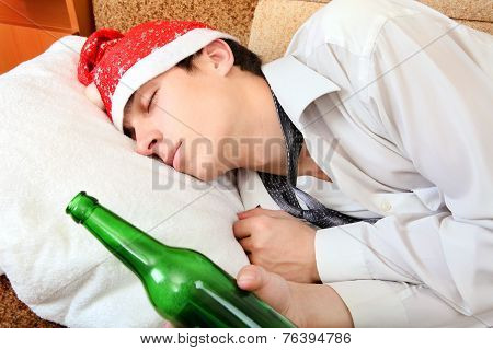 Drunken Teenager Sleeping