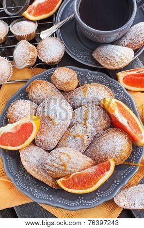 Fresh Orange Madeleines Cookies