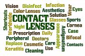 pic of bifocals  - Contact Lenses word cloud on white background - JPG